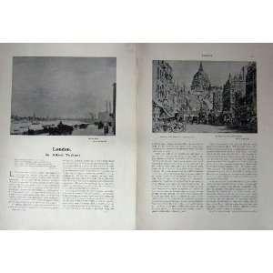 1909 ART JOURNAL CHELSEA REACH ST. PAULS LONDON WHARF