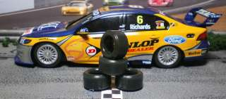 SLOT CAR TIRE 2pr fit Scalextric Holden Commodore & Ford Falcon