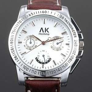 Homme White Dial men women XMAS GIFT quartz wrist Watch fashion /box