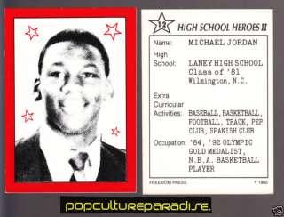 MICHAEL JORDAN High School Heroes Picture TRADING CARD