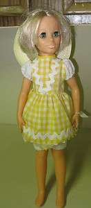 COLLECTIBLE 1970 IDEAL GROW HAIR MISS KERRY YELLOW DRESS DOLL