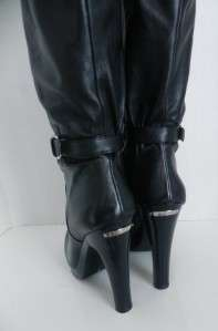 NEW Michael Kors Veronica Leather Black Boots sizes 5.5 , 6 , 7.5 , 11