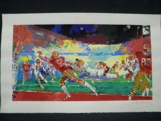 Neiman Signed San Francisco 49ers Super Play Football Serigraph