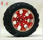 4x RC 1/10 Monster Bigfoot Car Truck Wheel & Rubber Tyre ,TIRE P0O87