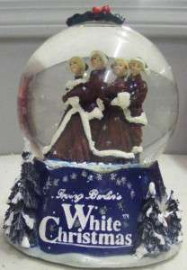 IRVING BERLINS WHITE CHRISTMAS COLLECTORS MUSICAL SNOW GLOBE NIB