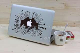 City MacBook Air/Pro Stickers Apple laptop Vinyl Decal Humor art Skins