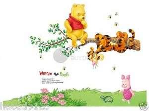 Wall Sticker sit on tree Disney Winnie The Pooh's Baby Nursery Room