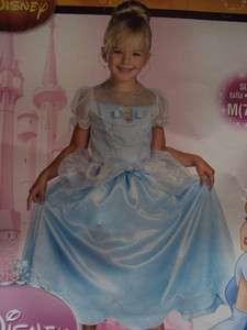 NWT NIP Girls Disney Blue Cinderella Costume Medium 7 8 Dress Up