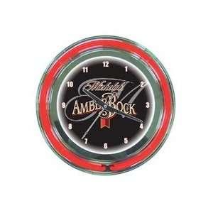 Michelob Amber Rock Beer Neon Clock 18