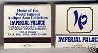 Las Vegas Matchbook Imperial Palace Collector Matches