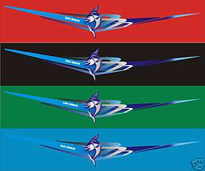 Blue Marlin boat stickers fishing decals graphics