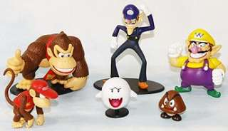 super mario bros wario waluigi 1 3 figure toy lot 6
