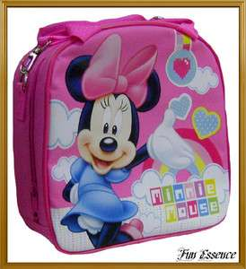 MINNIE MOUSE Shoulder Lunch Bag Box with Water Bottle/Insulated   NWT