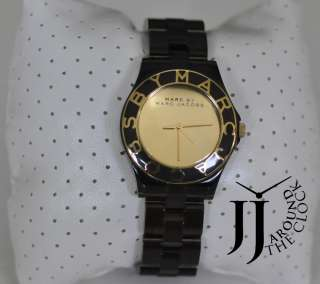New Marc By Marc Jacobs Gold Mirror Dial Chocolate Brown Bracelet