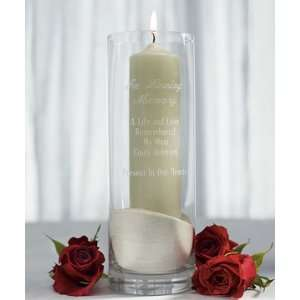 In Loving Memory Personalized Memorial Cylinder
