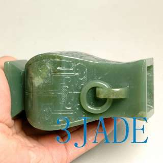 Natural Nephrite Jade Carving / Sculpture Vase