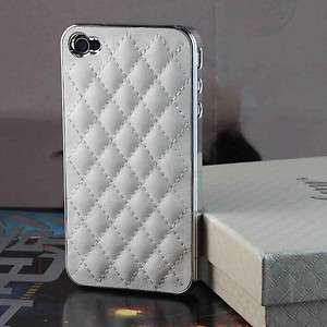 Lambskin Case Back Cover For iPhone 4G White W/ Gift Box Screen Guard
