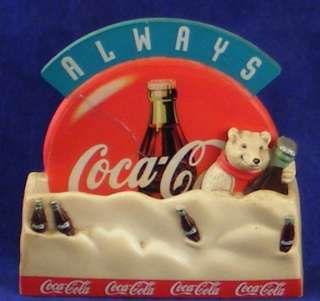 COCA  COLA BEAR MAGNET DATED 1998 OLD FASHIONED LOOK