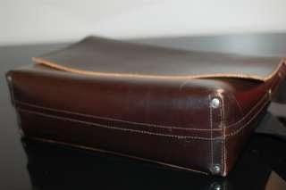 Jack Spade Mens Thick Leather Messenger Briefcase Satchel Travel Bag