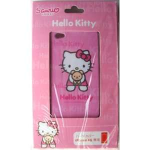iPhone 4G Hard Cover Back Case ~Pink Hello Kitty & Bear