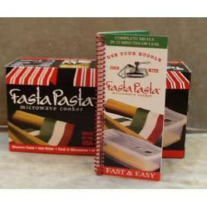 Fasta Pasta Microwave Cooker and Cookbook Set Kitchen