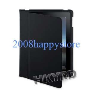 Black Leather Case Pouch Cover w/Stand for Apple iPad 1