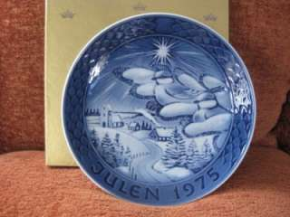 Grande Porcelain Copenhagen 1st Edition 1975 Plate MIB