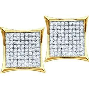 0.05CTW DIAMOND MICRO PAVE EARRINGS Jewelry