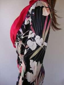 SALVATORE FERRAGAMO $1795 BLACK SILK JUNGLE DRESS~4 38
