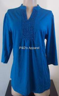 Just My Size JMS Women Plus Size 1X 2X 3X 4X Clothing Teal Blue Shirt