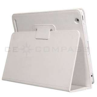 White Leather Smart Cover Case with Stand for Apple iPad 2