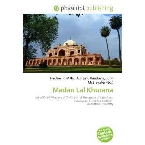 Madan Lal Khurana (9786132677075): Books