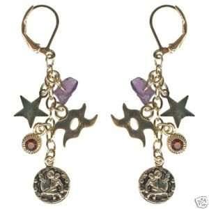 Kirks Folly Crystal Star Gazer Earrings Aquarius Zodiac