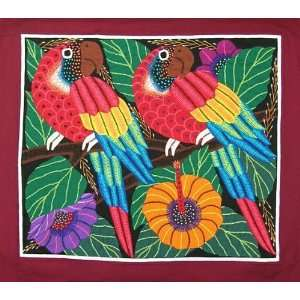 High Quality Pair of Parrots Kuna Mola