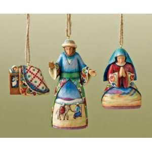 Mary, Joseph , and Baby Jesus Hanging Christmas Ornaments