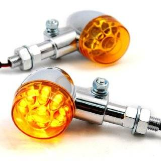 Motorcycle Bullet Amber LED Turn Signal Light For Harley