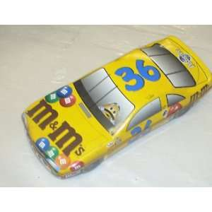 M&ms Holiday Tin (Read Condition Notes)  Yellow Race Car