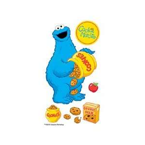 Street 3D Sticker Large Cookie Monster Jar (Pack of 3)