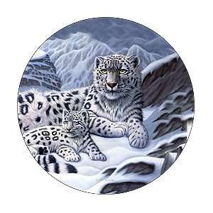 Snow Leopard And Cub Spare Tire Cover Automotive
