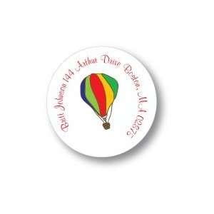 Polka Dot Pear Design   Round Stickers (Hot Air Balloon