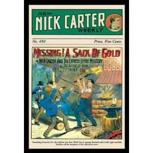 Nick Carter Missing A Sack of Gold 20x30 Poster Paper Home