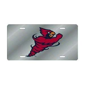 Iowa State Cyclones Silver Laser Cut License Plate Sports
