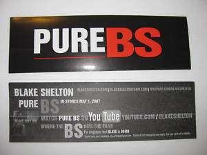 Blake Shelton Pure BS YouTube Bike Board Sticker Amp