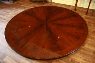 84 Round Dining Table  Large Round Table  Mahogany