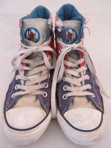 The Who Union Jack UK Flag Trashed Well Worn Hi Tops Mens 7 Womens 9