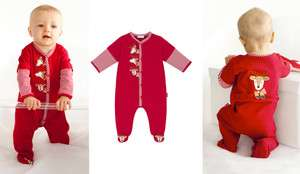 Top Run Run Reindeer Christmas Footed Coverall Romper + Hat 3 Mos $58