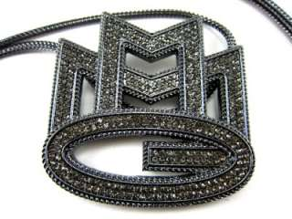 EXTRA Iced Out Rick Ross Maybach Music MMG Pendant & Black Franco