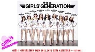 GIRLS GENERATION SNSD 2011,2012 Desk Calendar+ sticker