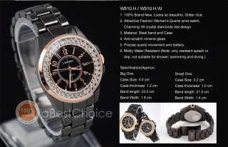 New Gorgeous Noble Girls Lady Diamonds Crystal Wrist Watch Fashion