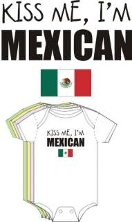 Kiss Me Im Mexican Cute Funny Baby Boy Girl Clothes